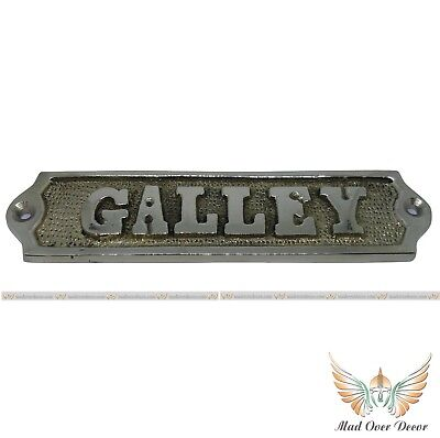 Solid Brass Ship's boat plaque GALLEY Nautical Vintage Wall Decor Door Signs