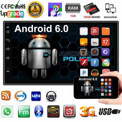 "Quad Core Android 3G WiFi 7"" 2DIN GPS Autoradio Bluetooth Stereo MP5 MP3 FM"