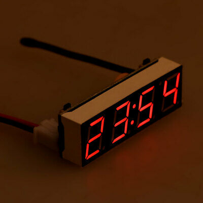 3 in 1 Digital Car LED Electronic Clock Time Temperature Voltage Meter 12V 5-20V