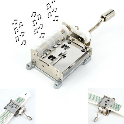 DIY 15 Tones Hand Cranked Music Box Movement with Hole Puncher and Paper Tape Z#
