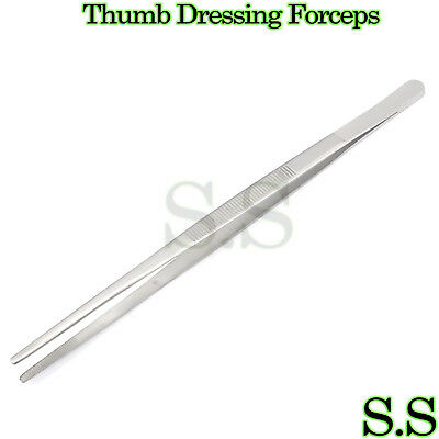 High Grade Thumb Dressing Forceps Serrated 8'' Tweezers Surgical Instruments