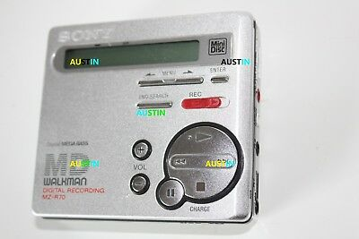 Sony Mz R70 Minidisc Player Recorder Md With Microphone