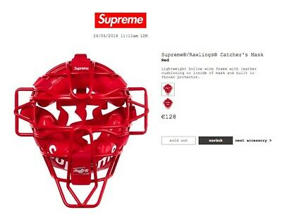 Supreme Rawlings Catcher's Mask SS 18 In Hand NEU NEW CONFIRMED Deadstock