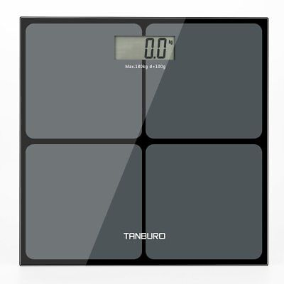 180kg DESIGN Digitalwaage Personenwaage AAA Batteriebetrieb GLAS Scale Display