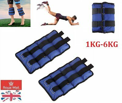 Adjustable Ankle Wrist Leg Weights Sports Exercise Training Fitness Running UK