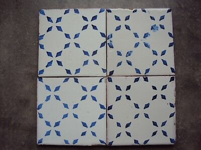 Rare 4 carreaux faience Pierre Espanet Marseille