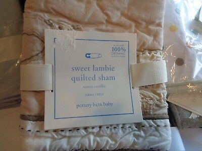 Pottery Barn Kids Deco pillow crib Sweet Lambie small quilted  sham  New w tag