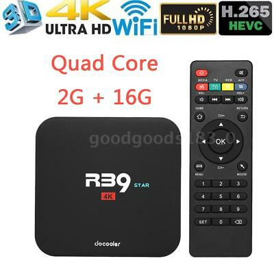 Docooler R39 Smart Android 7.1 TV Box RK3229 Quad Core UHD 4K WiFi 2G 16G Médias