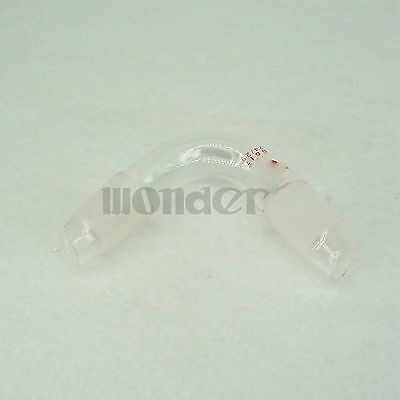 24/29 Stopper Glass Distillation Adapter Distilling Head 75 Degree Bend Labware