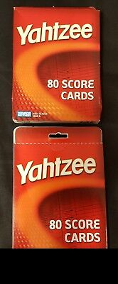 Yahtzee Score Cards 2 Pack 80 Sheets Each Hasbro Refill New! (160 sheets total)