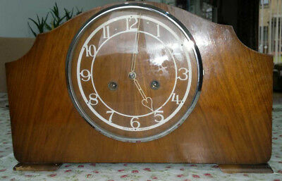 Early 1950's Smiths Enfield Striking Mantel Clock  with original receipt!