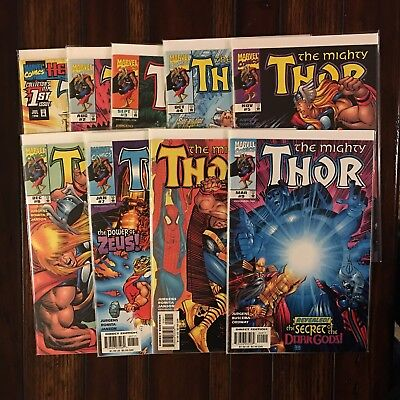 MARVEL THE MIGHTY THOR (vol 2 1998) 1 2 3 4 5 6 7 8 9 VF/NM