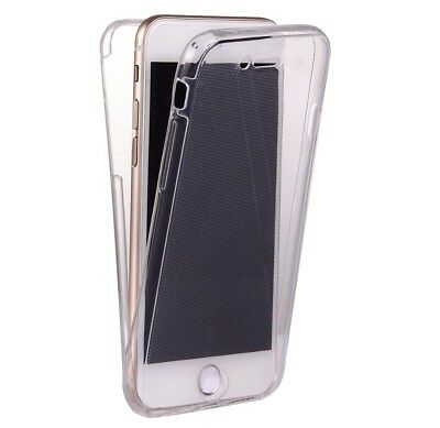 iPhone 6 6S 7 8 8 PLUS 360° Double Sided Thin Soft Transparent Clear Case Cover