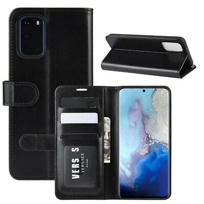 Case For Samsung Galaxy S10 S10e S9 S8 Plus Flip Genuine Leather Wallet Cover UK