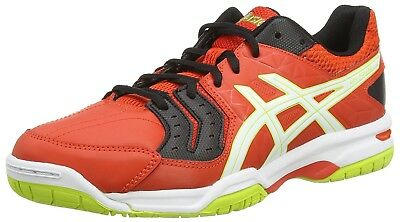 Mens Asics Gel Squad E518Y 2101 Cherry Tomato Black White Lace Up Trainers