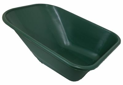 Plastic Wheelbarrow Replacement Body - Green - 110 Litres - No Holes - Uk Made