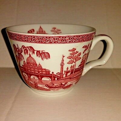 Spode Archive Collection Coffee Tea Cup Georgian Series Rome Red White