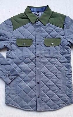Smartwool Summit Men's Quilted Insulated Merino Wool Shirt Jacket - Grey, Small