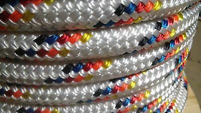 """5/8"""" x 100 ft. Double Braid~Yacht Braid Polyester rope.Made in USA."""
