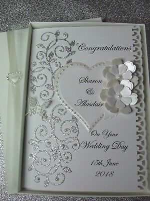 Personalised Wedding Day Card and/or Gift Voucher Wallet Boxed/unboxed