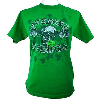Avenged Sevenfold Small T-shirt Seize the Beer Green Graphic Tee Clover