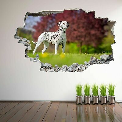 Dalmatian Puppy Dog Spring Flowers 3D Wall Art Sticker Mural Decal Poster FV16