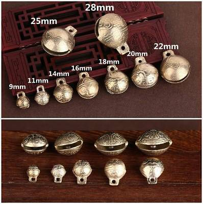 Wholesale 10/5/2pcs Small bells Little brass Jingle Bell Dangle Charms With Loop