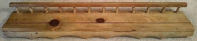 "Vintage 35"" Wooden Wall Shelf Rack Rustic Country Shabby Cottage"