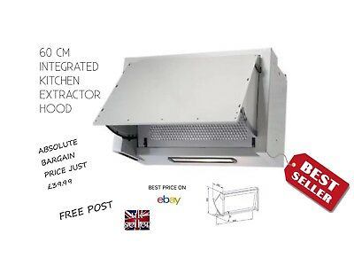 Kitchen Extractor Hood 60 Cm Integrated New And Boxed Only £39.99 Free Delivery