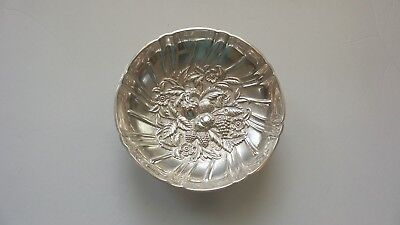 """Kirk REPOUSSE Sterling Silver 5.75"""" Footed Candy Bowl #431"""