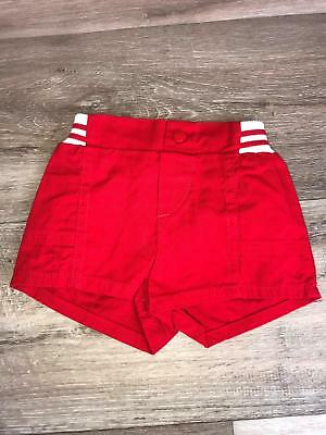 Vintage Peanuts Snoopy Red Striped Shorts Size 12 months Elastic waist made usa