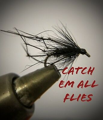 set Of 3 Red snatcher jungle cock barbless size 12 Trout Fly Fishing Flies