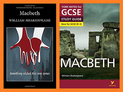 Macbeth Wordsworth Classics Paperback and GCSE York Notes Study Guide Pack