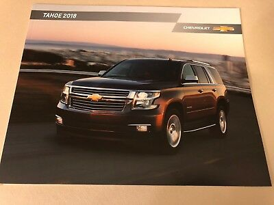 2018 CHEVY TAHOE 28-page Original Sales Brochure