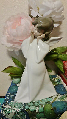 """Lladro #4959 """"Mime Angel"""" Mimico Puzzled Glazed Good Condition No Box Or Papers"""