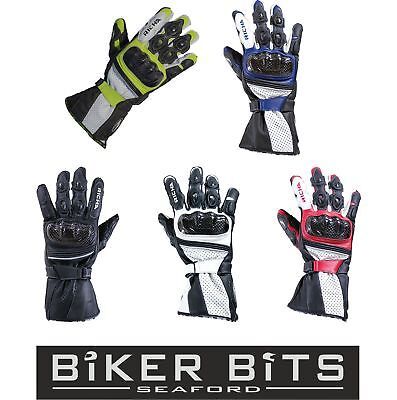 Richa Ravine Pas Cher Cuir Sports Ventilé Moto Racing Phalanges Carbone Gants