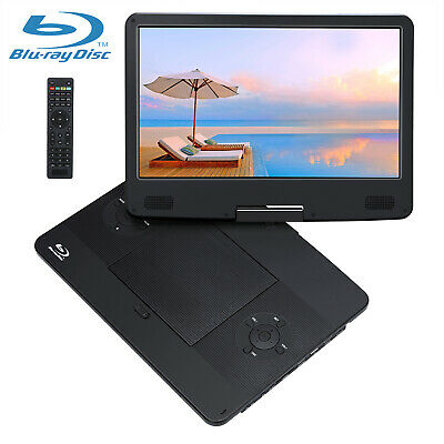 """9"""" Portable DVD/CD Player 270° Swivel Screen with Battery + Car Headrest Mount"""