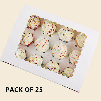New Cupcake Box 2 hole 4 hole 12 hole Muffin Storage Cases Party with Window AU