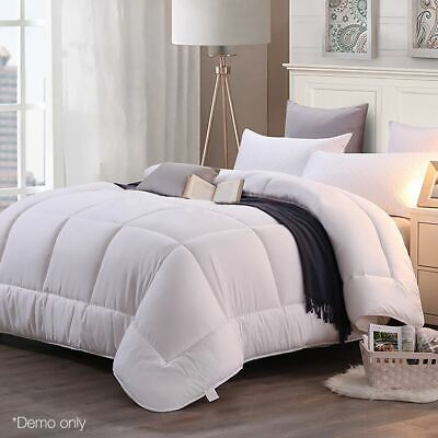 Microfibre Winter Quilt Single Duvet Blanket Bedding Light Soft Comfy 700GSM