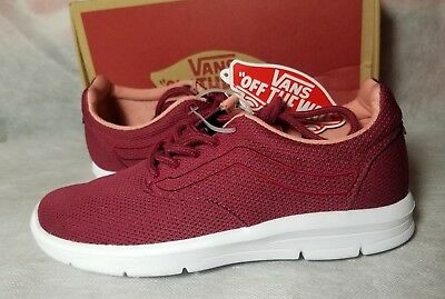 bc92bdbe24a022 New Vans Iso 1.5 Beet Red Mesh True White Skate Ultra Cush Shoe Women Size  9.5