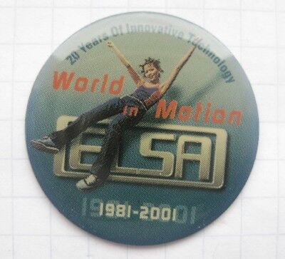 ELSA  WORLD IN MOTION    .....................Computer Pin (169a)