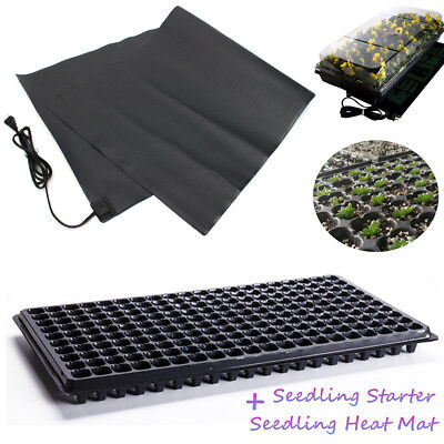200 Cell Seedling Starter Trays & 120X52cm Heat Mat Seedling Germination Pad