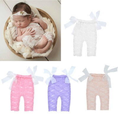 Lace Romper Playsuit Newborn Baby Photography Props Accessories Infant Outfit