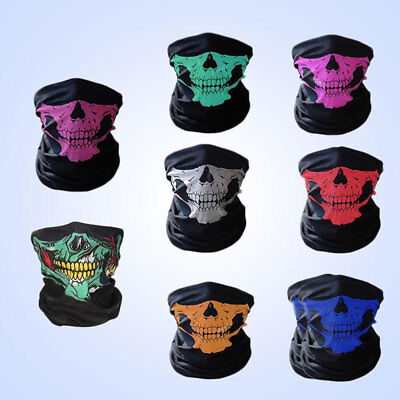 Skull Bandana Bike Motorcycle Outdoor Scarf Neck Face Mask Paintball Ski
