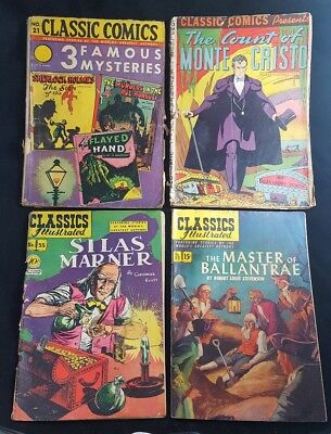 Rare Canadian Classics Illustrated # 3, 21, 55 And 82 Lot Of 4