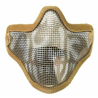 (One Size, Coffee) - Etopsell Tactical Ghost Mesh Airsoft Mask Paintball Half