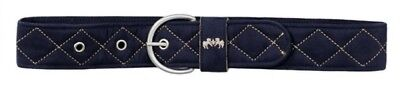 (X-Large, Chocolate/Tan) - Equine Couture Quilted Suede Belt. Free Shipping