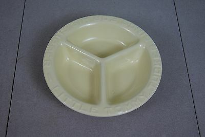 LITTLE TOMMY TUCKER SINGS FOR HIS SUPPER BABY / CHILDS BOWL/ 3 sections