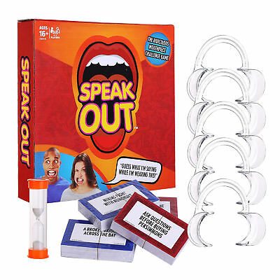 Speak Out Funny Mouthguard Challenge Party Board Game Gift Toy New