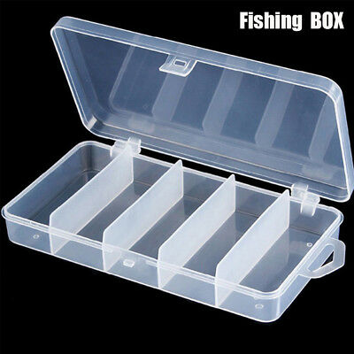 5 Compartment Fishing Tackle Boxes  Plastic Storage Box Fish Lure fishing tool